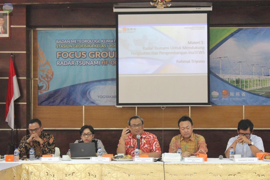 BMKG-JRC Gelar FGD Pembangunan Radar Tsunami di Yogyakarta