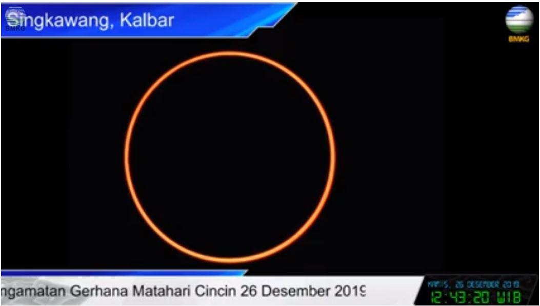 Gerhana Matahari Cincin Lintasi 25 Kota dan Kabupaten di Indonesia