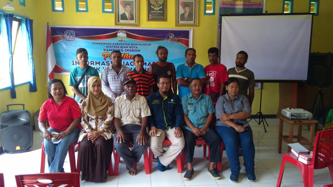 Partisipasi Stasiun Meteorologi Biak dalam Pelatihan Informasi Cuaca Maritim untuk Nelayan Tangkap di Kampung Insrom