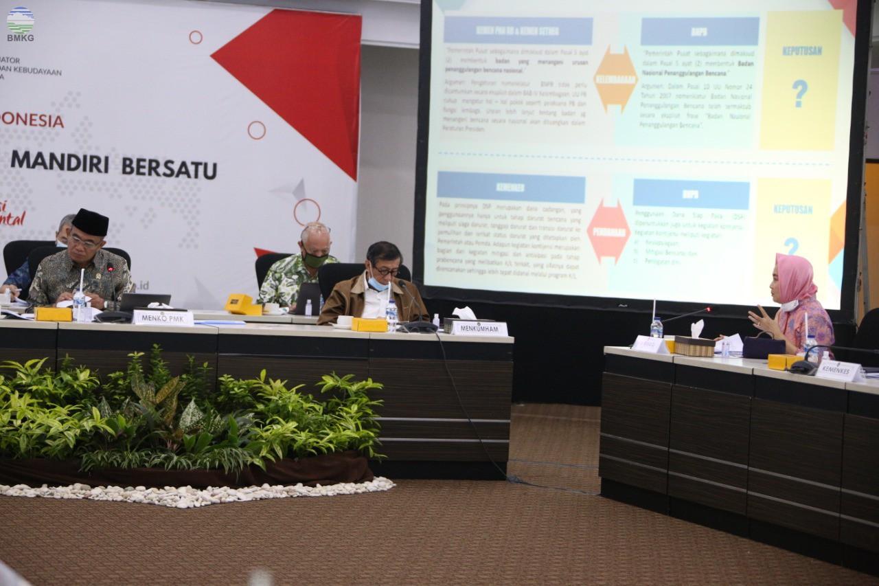 Kepala BMKG Hadiri Rakor Tingkat Menteri di KemenkoPMK, Bahas RUU Penanggulangan Bencana