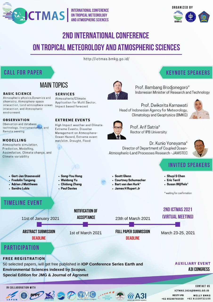 2nd International Conference on Tropical Meteorology and Atmospheric Sciences