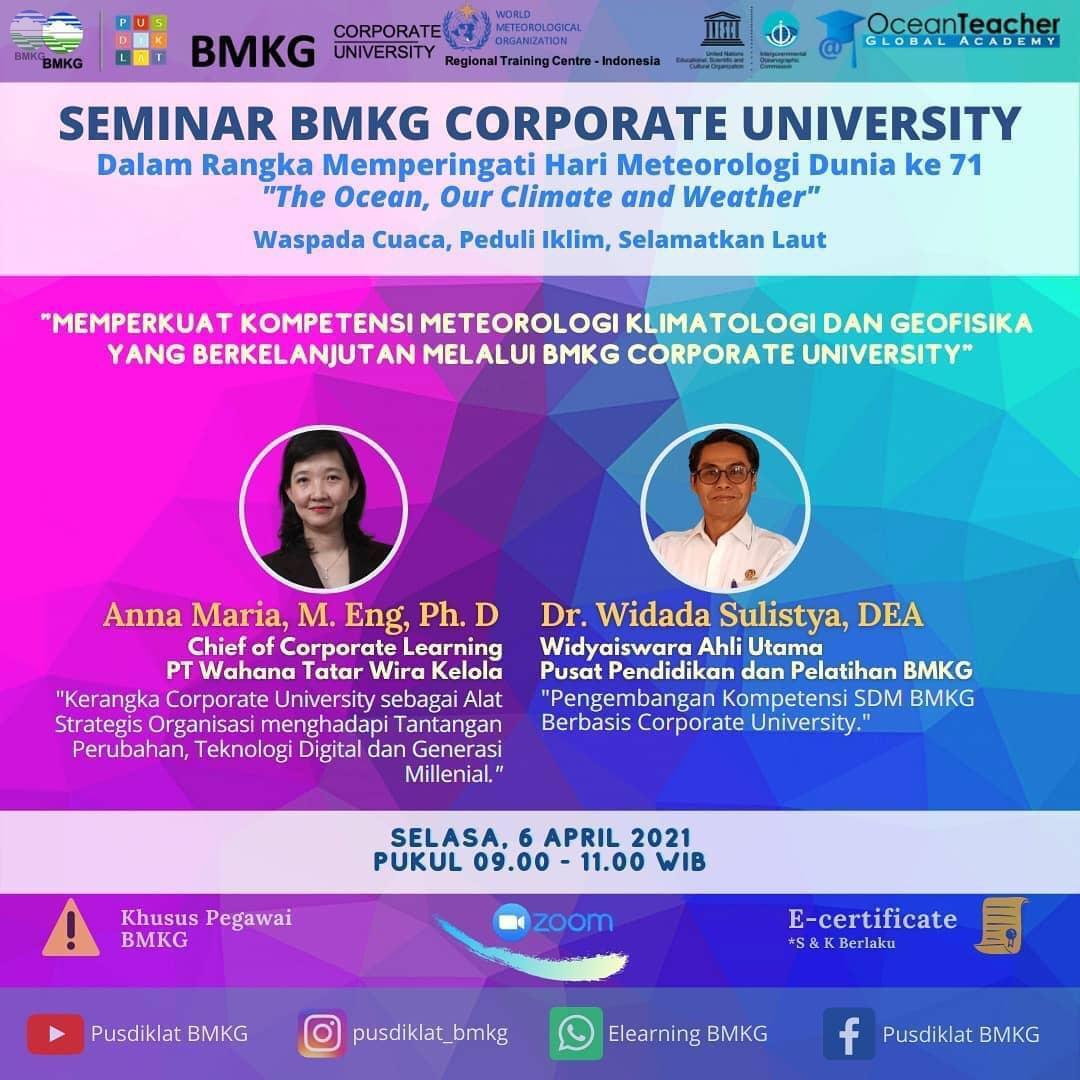 Seminar BMKG Corporate University (CorpU)