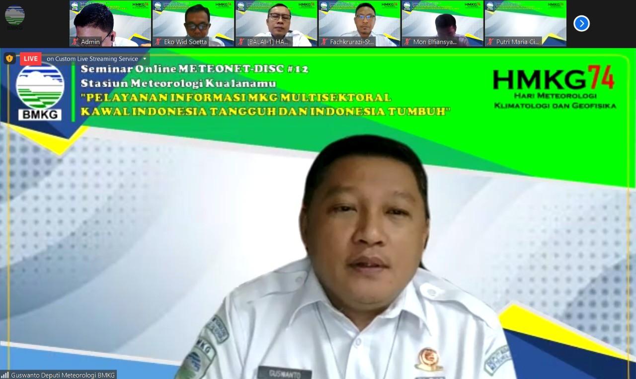 Peringati HMKG Ke-74, Stamet Kualanamu Gelar Seminar Online Meteonet-Disc #12