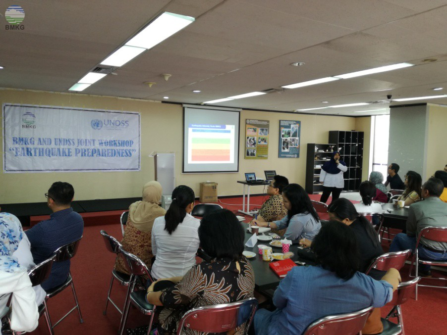 Joint Workshop BMKG - UNDSS On Earthquake Preparedness
