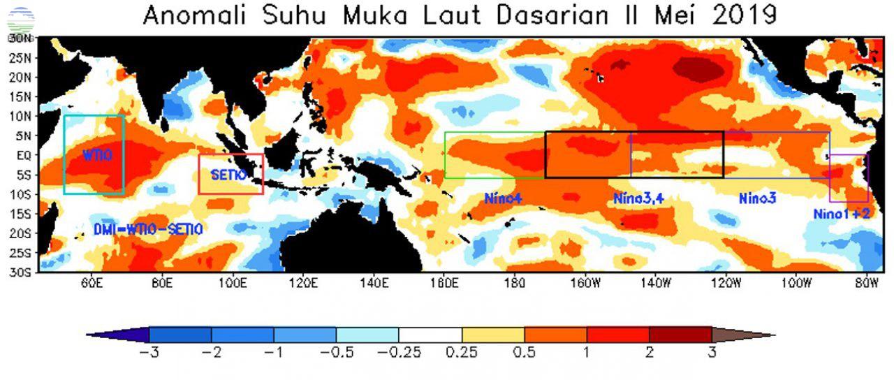 Analisis Dinamika Atmosfer Dasarian II Mei 2019