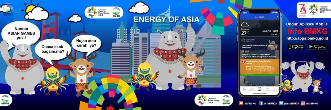Sukseskan Asian Games, BMKG Luncurkan Aplikasi Cerdas Pantau Cuaca