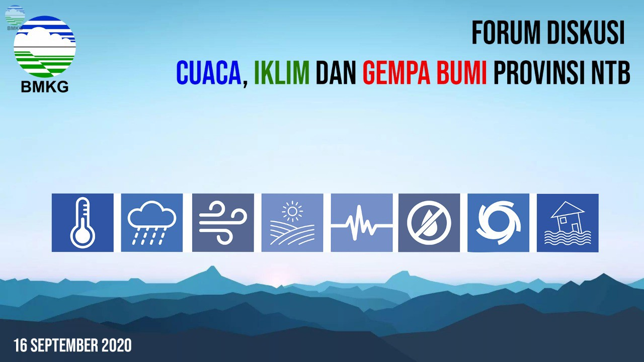 BMKG NTB Gelar Forum Informasi Cuaca Iklim dan Gempa Secara Virtual