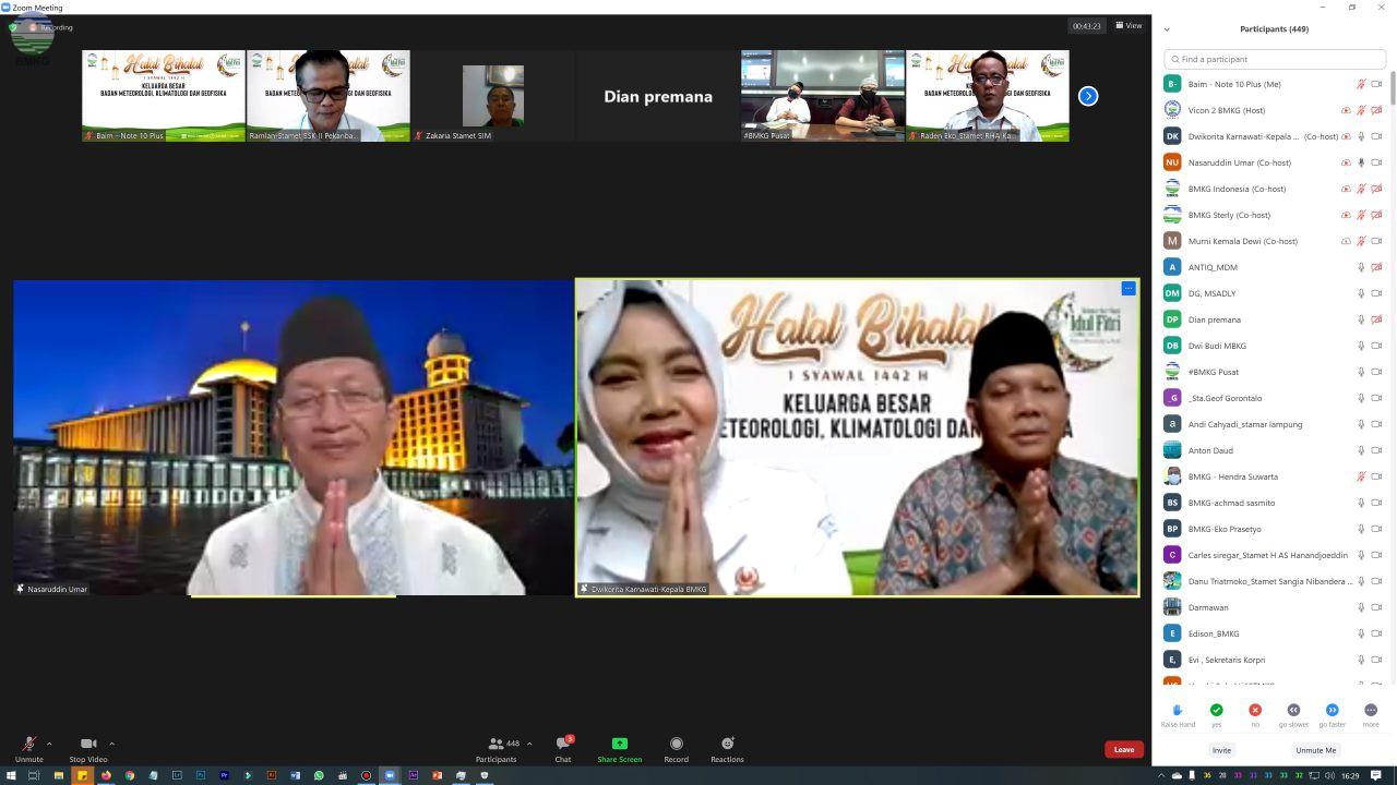 BMKG Gelar Halal Bi Halal Idul Fitri 1442 H Secara Daring