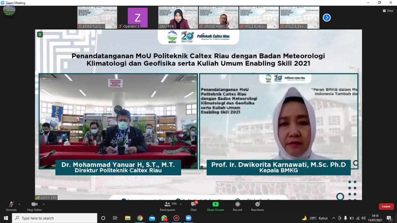 BMKG Gandeng Politeknik Caltex Riau Tingkatkan Inovasi Teknologi Terapan di Bidang MKG