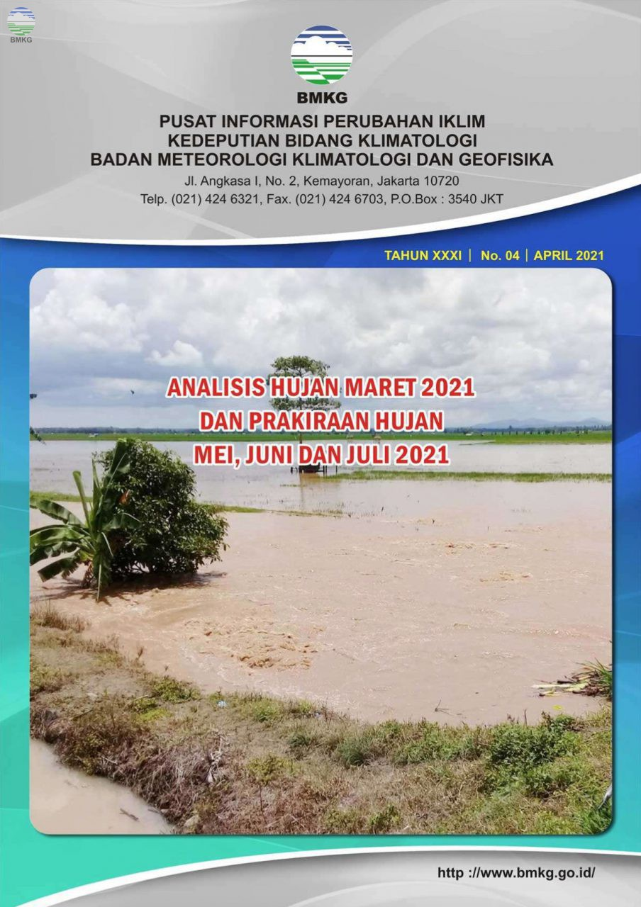 Buletin Hujan Bulanan di Indonesia - Updated April 2021