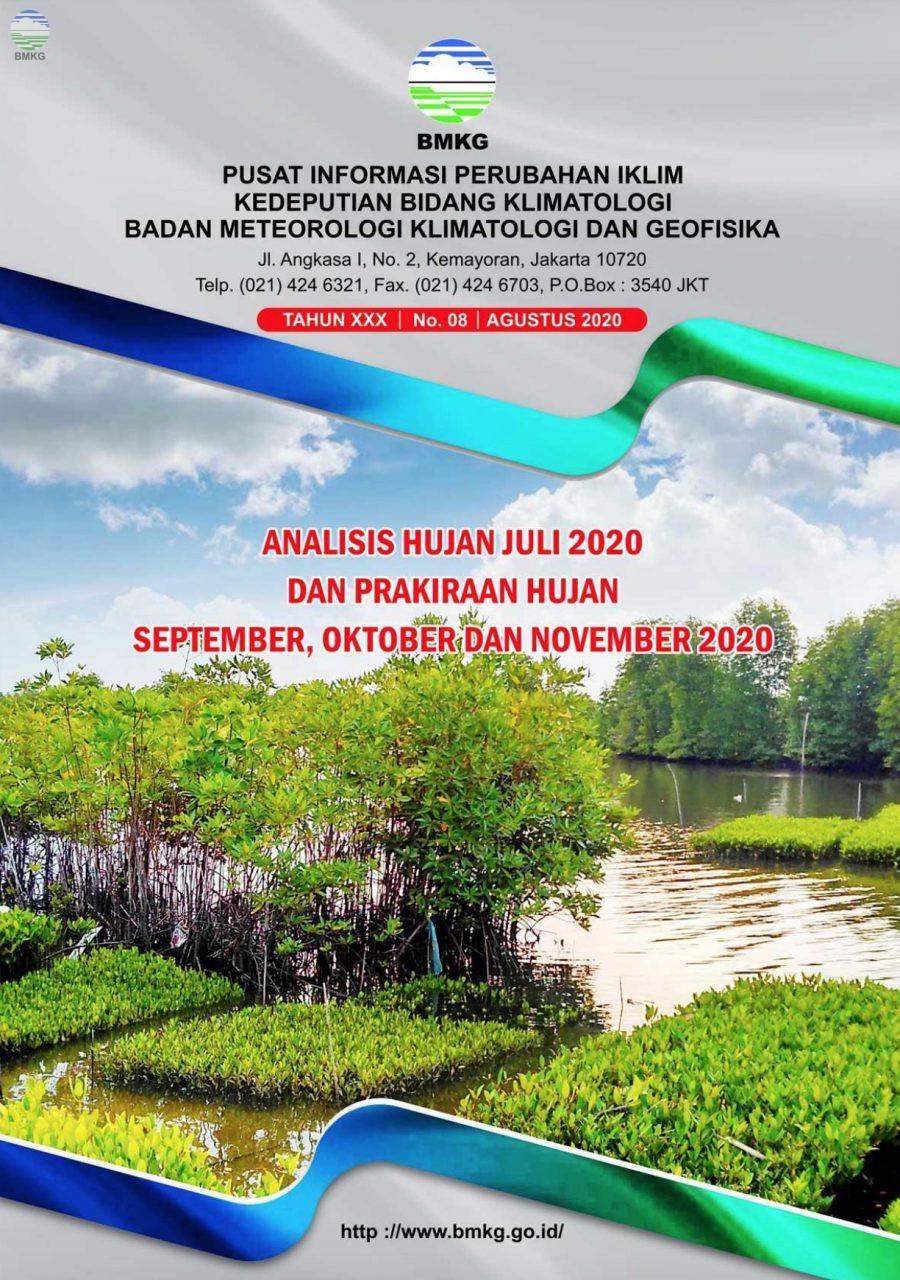 Buletin Hujan Bulanan di Indonesia - Updated Agustus 2020