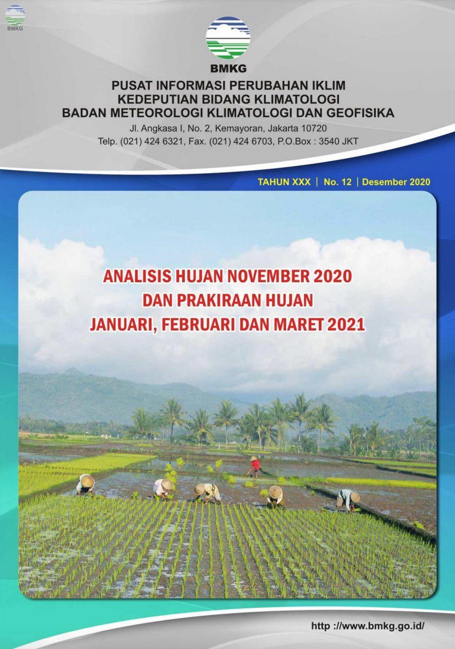 Buletin Hujan Bulanan di Indonesia - Updated Desember 2020