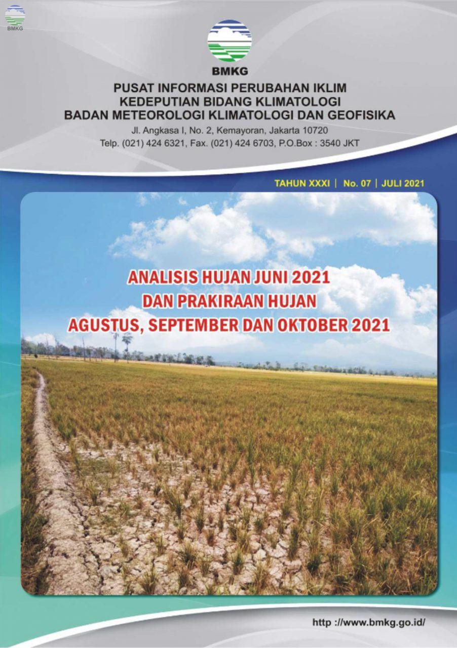 Buletin Hujan Bulanan di Indonesia - Updated Juli 2021