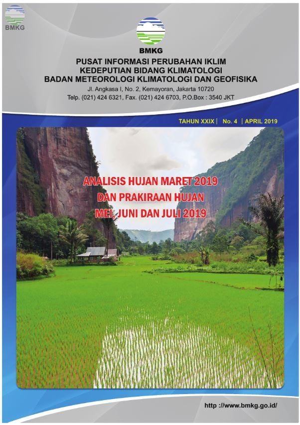 Buletin Hujan Bulanan di Indonesia - Updated April 2019