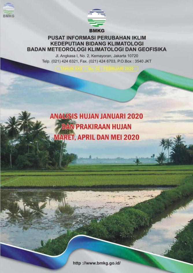 Buletin Hujan Bulanan di Indonesia - Updated Februari 2020