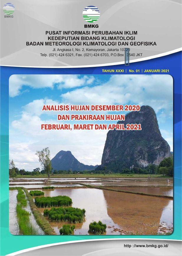 Buletin Hujan Bulanan di Indonesia - Updated Januari 2021