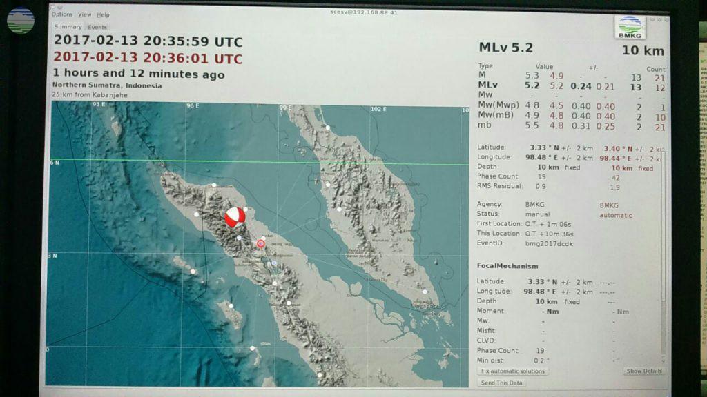 Gempabumi Tektonik M 5,2 Kembali Guncang Deli Serdang Sumatera Utara
