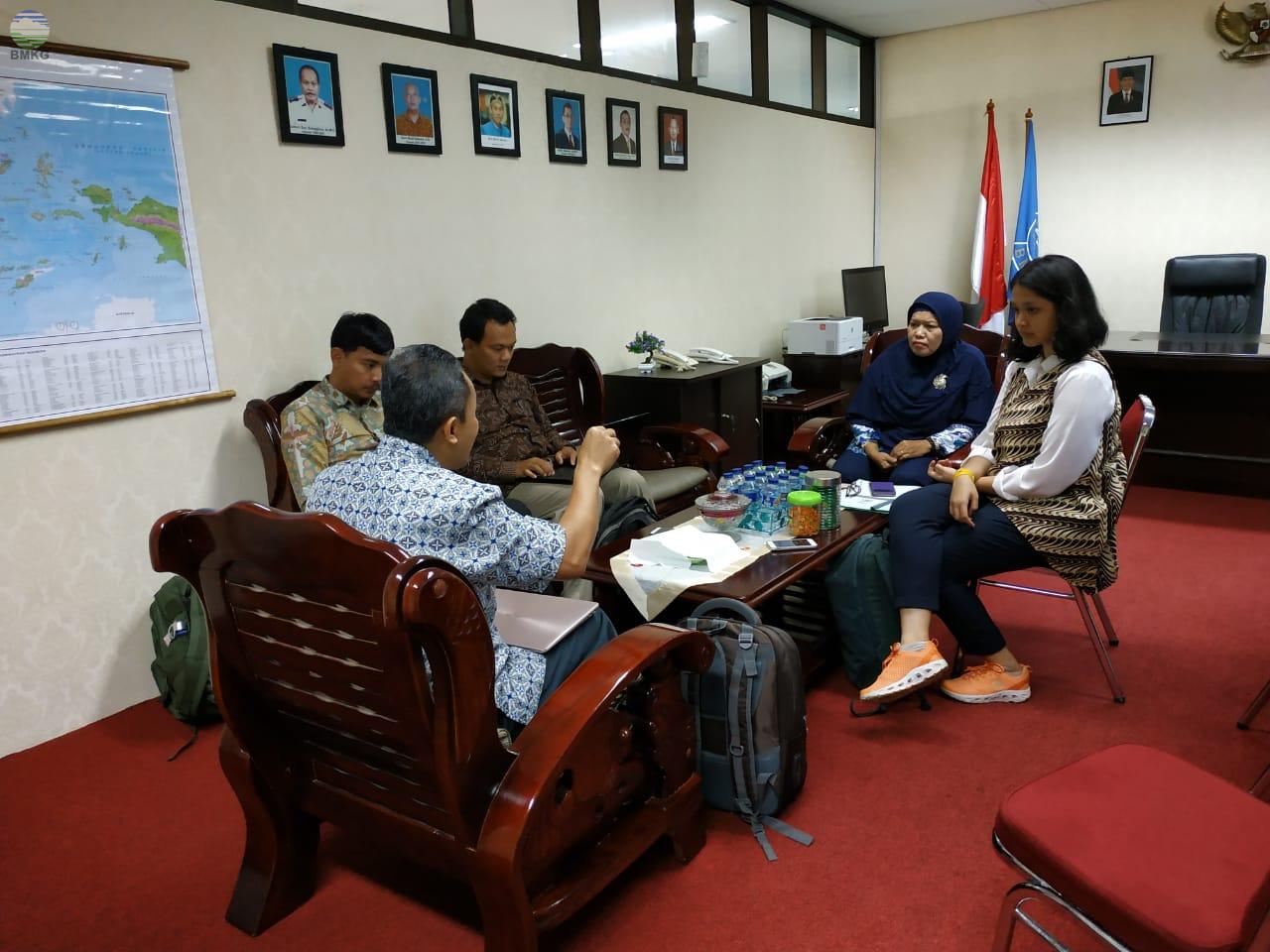 Kunjungan Kerja Tim Kementerian Pendayagunaan Aparatur Negara dan Reformasi Birokrasi ke Stamet Kelas I Hang Nadim Batam