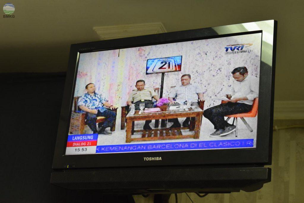 Stamet Depati Amir PangkalPinang Menjadi Narasumber Dialog 21 TVRI Bangka Belitung