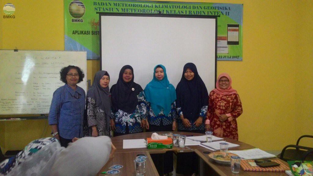 Pembentukan Pengurus Baru Dharma Wanita Persatuan Sub Unit BMKG Provinsi Lampung