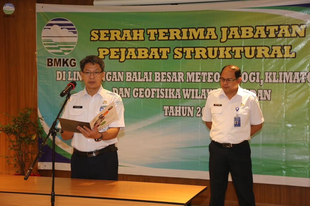 Sertijab Di Lingkungan Balai Besar MKG Wilayah I Medan