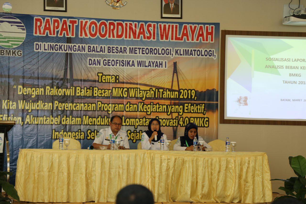 Sosialisasi Bagi Para KUPT dalam Kegiatan Rakorwil BBW I MKG