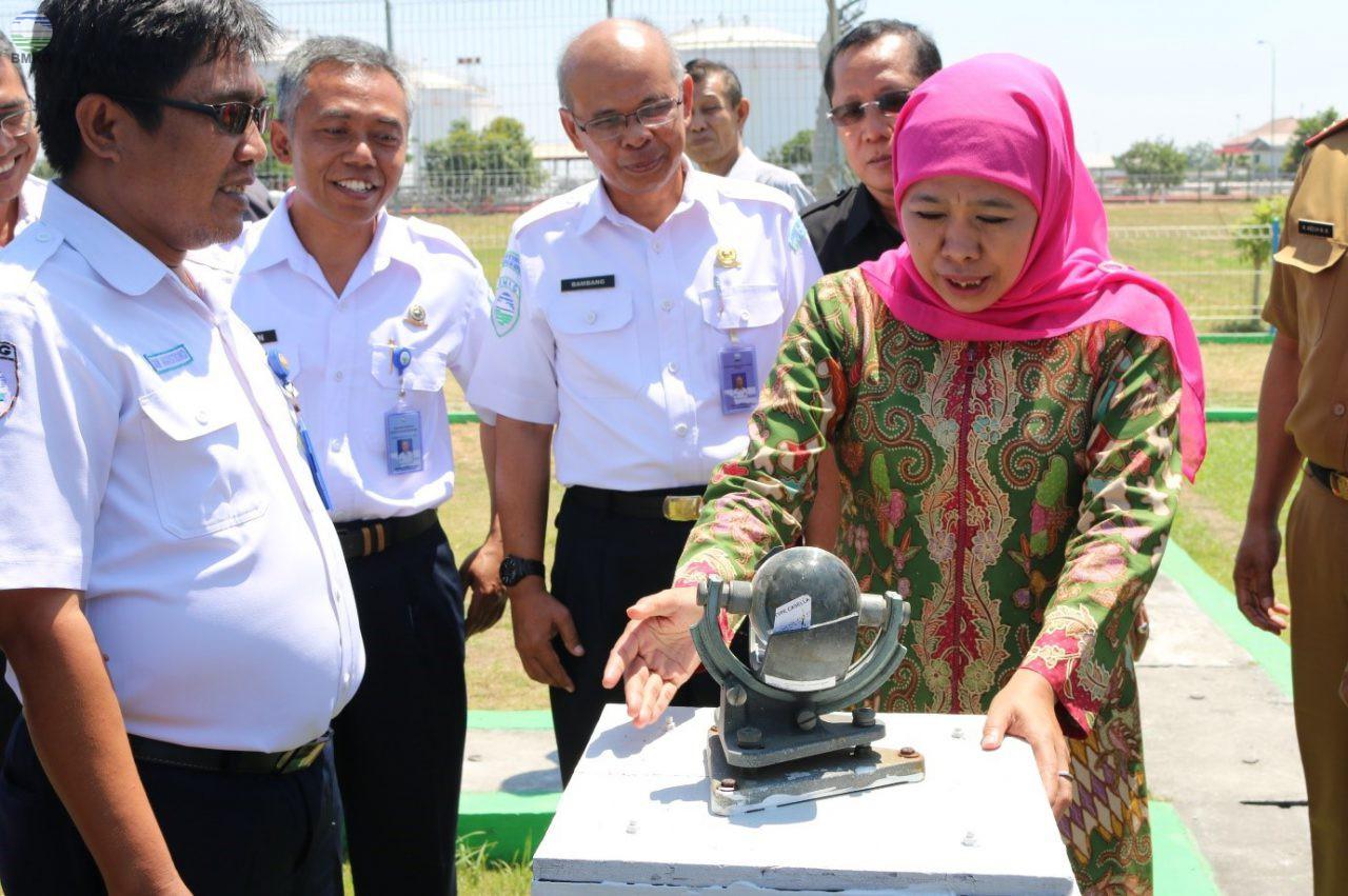 Audensi Gubernur Provinsi Jawa Timur di Stasiun Meteorologi Juanda Surabaya