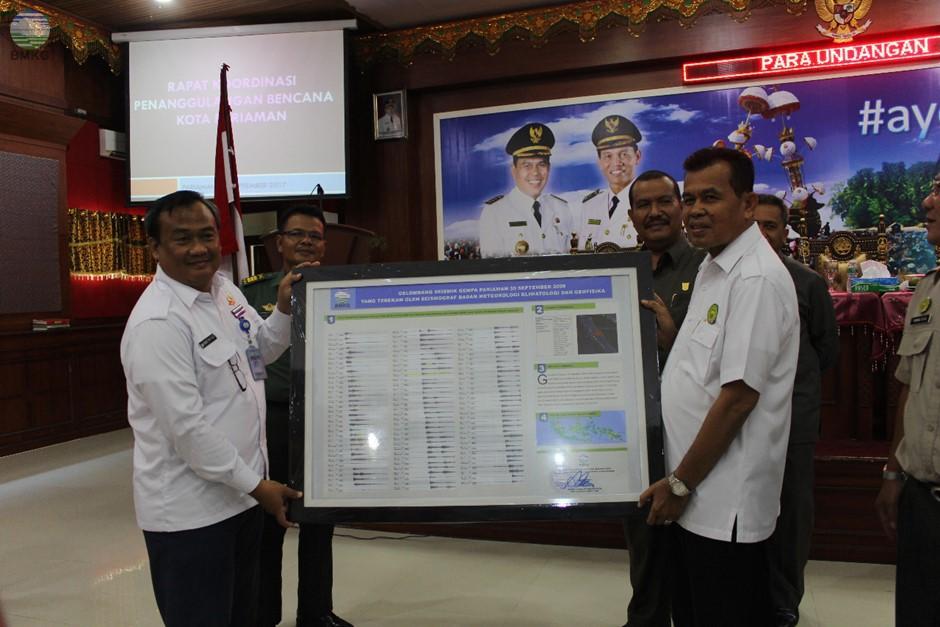 Penandatanganan Kerjasama Penanggulangan Bencana  Antara BMKG-BPBD Kota Pariaman