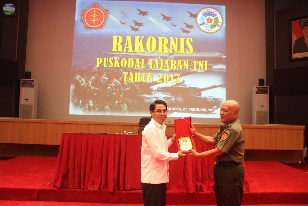 Sestama BMKG Menjadi Narasumber dalam Rakornis PUSKODAL TNI