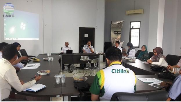 Sosialisasi Informasi Meteorologi Penerbangan di Stasiun Meteorologi Sultan Thaha Jambi