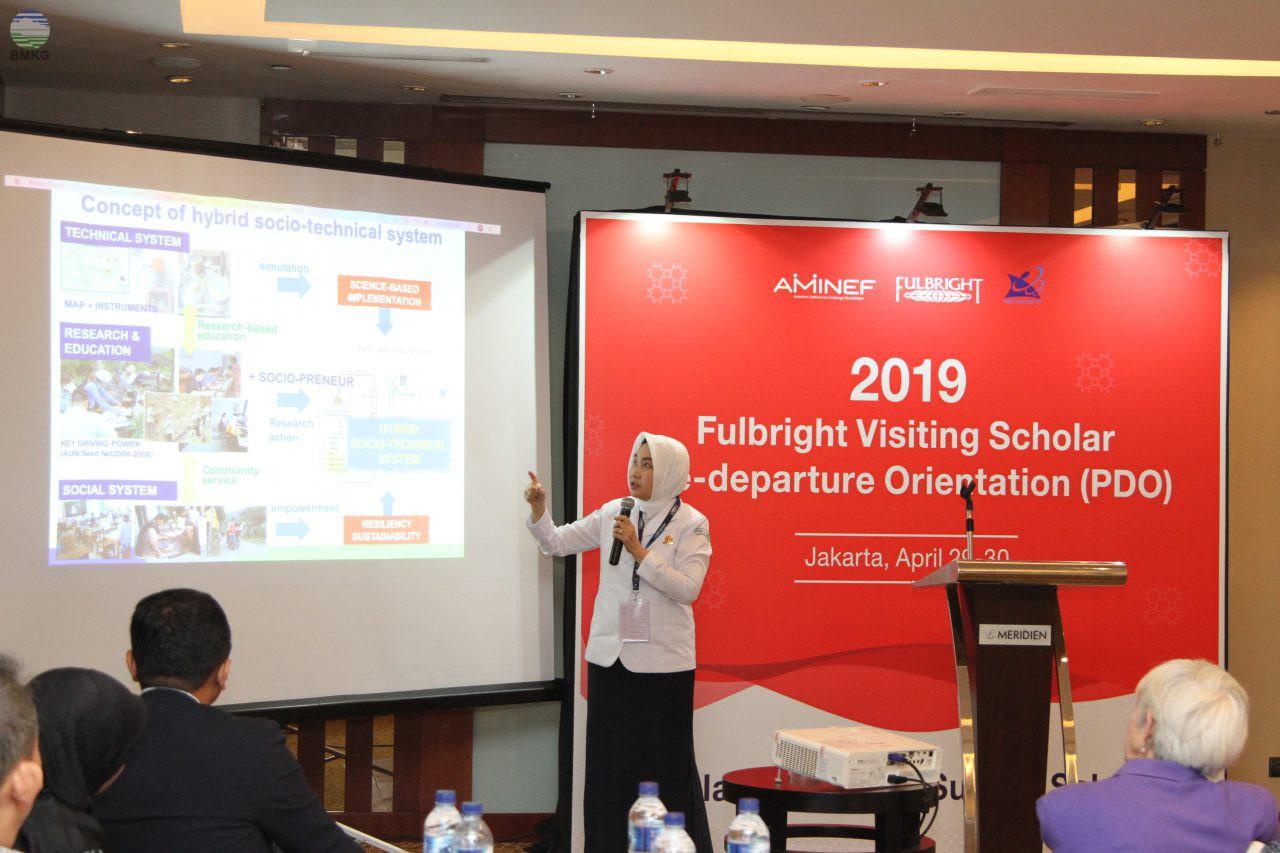 Kepala BMKG Sebagai Narasumber Pada Kegiatan Fulbright Visiting Scholar Pre-Departure Orientation