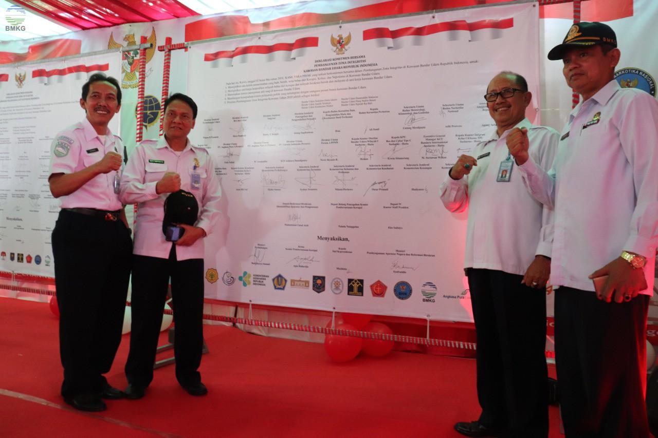 BMKG Ikut Berperan Serta dalam Deklarasi Komitmen Bersama Pembanguan Zona Integritas