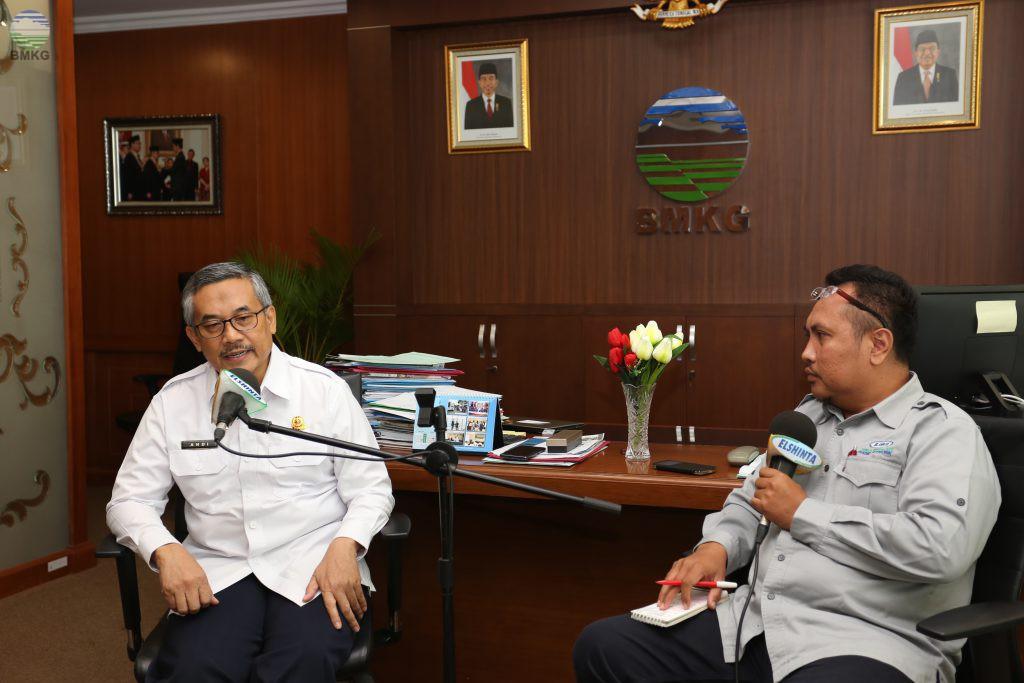 Wawancara Live Radio El Shinta Kepada Kepala BMKG