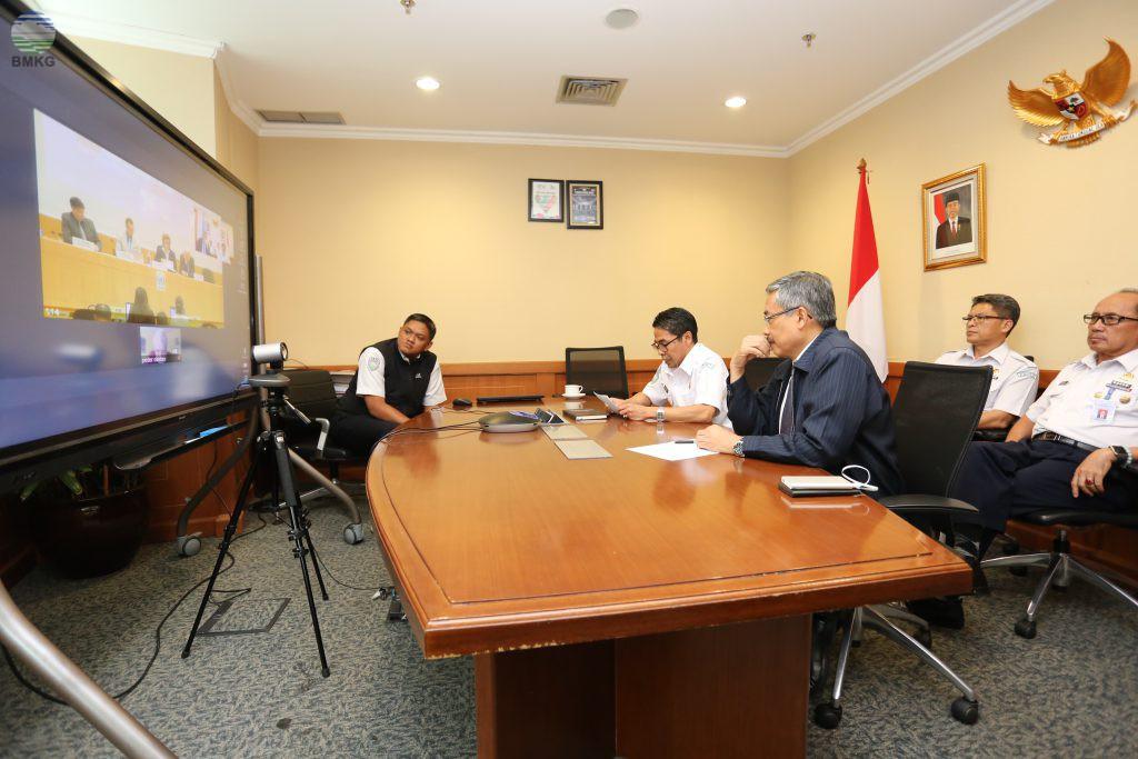 Teleconference Dr. Widada Sulistya Pada Pembukaan Sidang JCOMM Ke 5 Di Jenewa