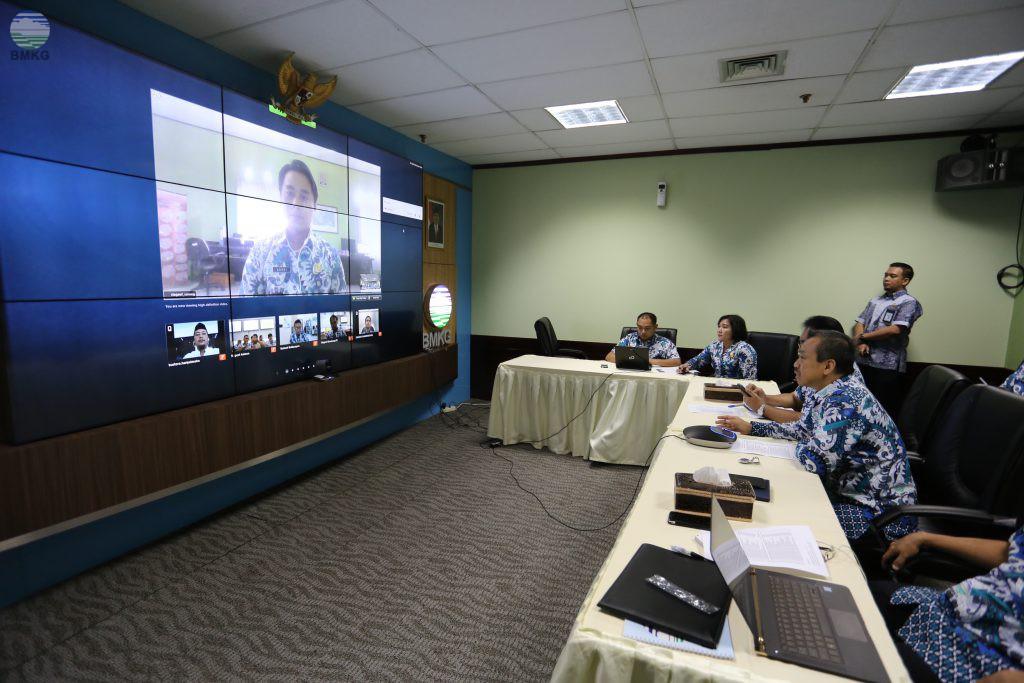 Teleconference Deputi Bidang Geofisika Dengan Para Kasgeof