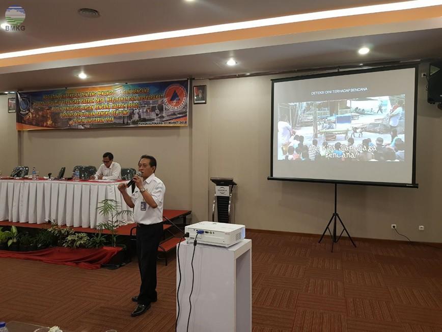 BMKG Menjadi Narasumber Dalam Kegiatan Pembekalan Penanggulangan Bencana  Di Provinsi Bangka Belitung