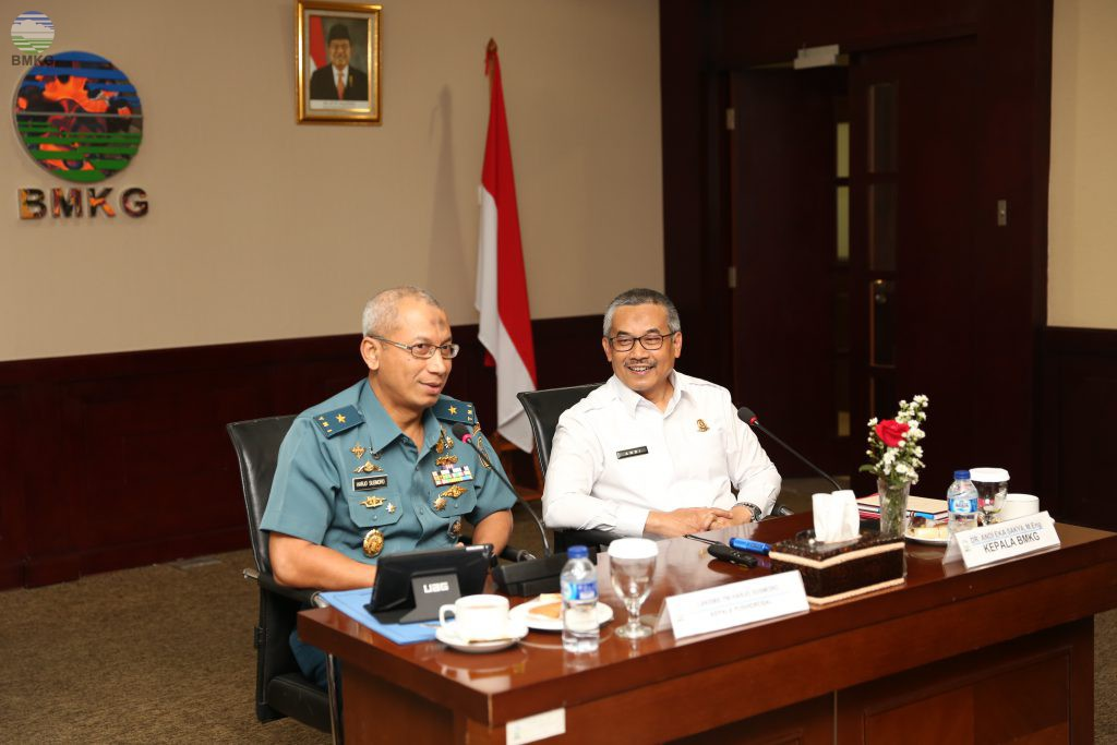 Kepala Pusat Hidrologi dan Oseanografi TNI Angkatan Laut Kunjungi BMKG