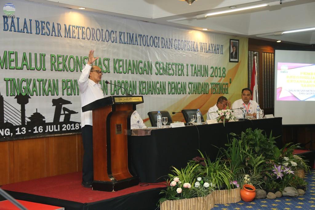 Rekonsiliasi Keuangan Semester I Tahun 2018 Balai Besar MKG Wilayah II
