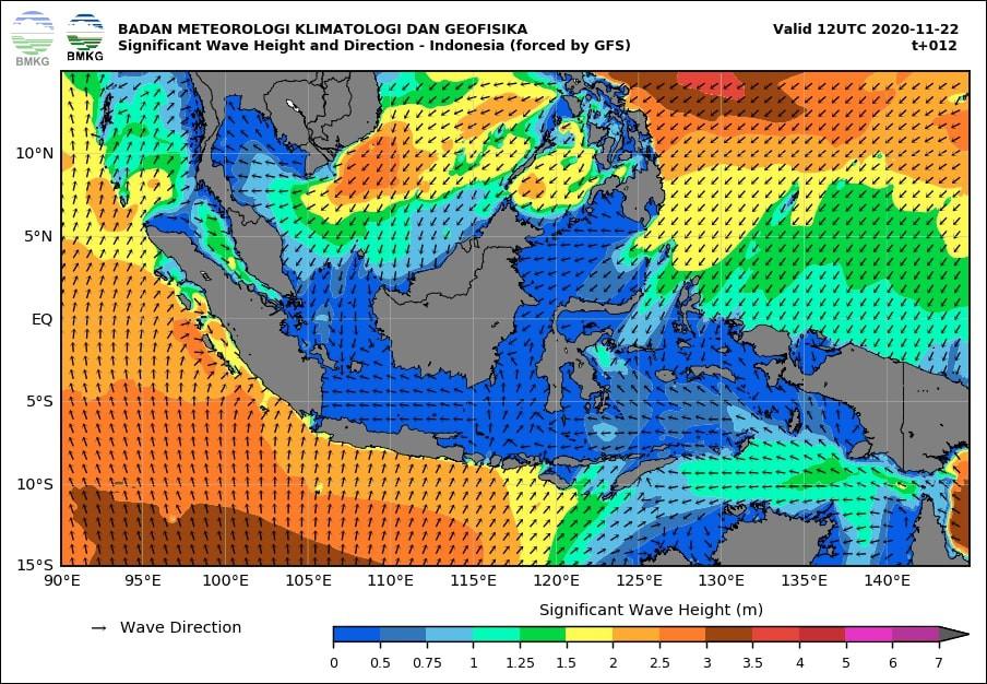 Waspada Gelombang Sangat Tinggi Hingga 4 Meter di Sejumlah Perairan Wilayah Indonesia