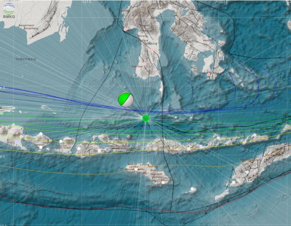 Gempabumi Tektonik M=6,7 Mengguncang Wilayah NTB - NTT, 17 Agustus 2018, Tidak Berpotensi Tsunami