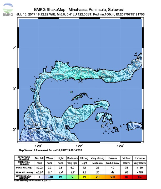Gempabumi Tektonik M=5.9 Guncang Gorontalo dan Sekitarnya, Tidak Berpotensi Tsunami