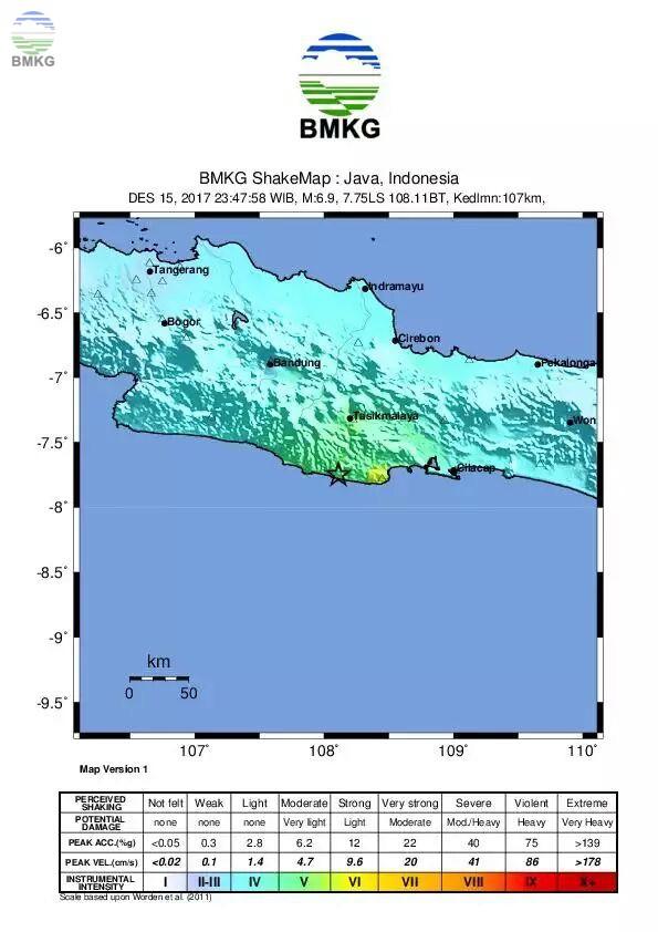 Siaran Pers Gempabumi Pulau Jawa M=7.3 Jumat, 15 Desember 2017, 23:43:57 WIB