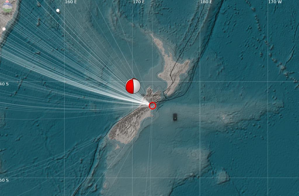 Gempabumi Kuat Guncang Canterbury, New Zealand, Memicu Tsunami Lokal, Tidak Berdampak di Indonesia