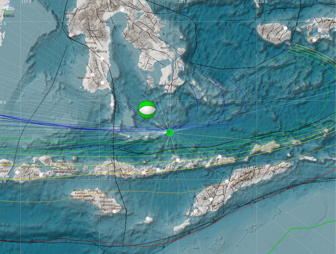 Gempabumi Tektonik M=6,1 Mengguncang Laut Flores Pada Hari Minggu, 29 Juli 2018, Pukul 00.07.22 WIB, Tidak Berpotensi Tsunami
