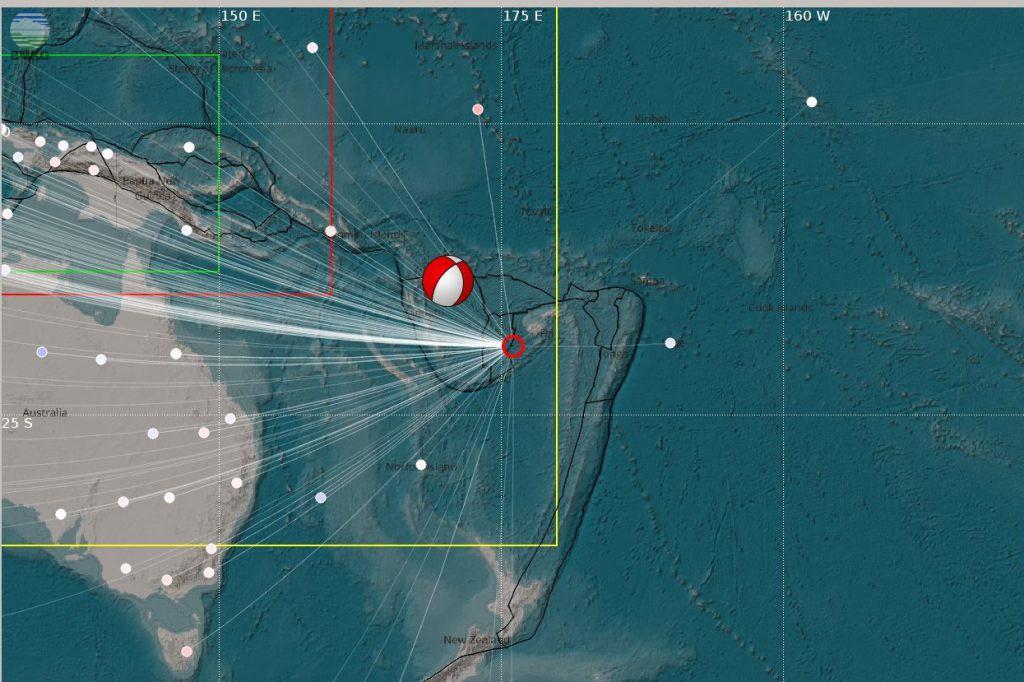 Gempabumi Fiji Tanggal 4 Januari 2017 Berkekuatan Mw 7.0 Tidak Berpotensi Tsunami di Wilayah Indonesia