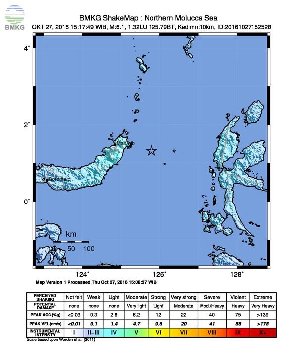 Siaran Pers Gempabumi Tektonik di Sulawesi Utara 27 Oktober 2016