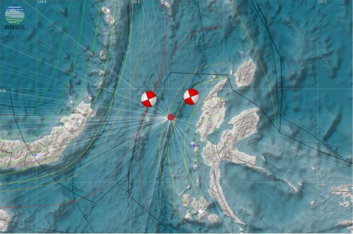 Press Release Gempabumi Halmahera Barat Maluku Utara, M 6.0, Senin, 16 April 2018, 02.30.45 WIB
