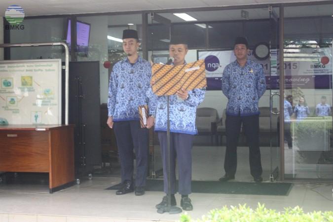 BMKG Stasiun Meteorologi Hang Nadim Batam Memperingati Upacara Peringatan Hari Lahir Pancasila