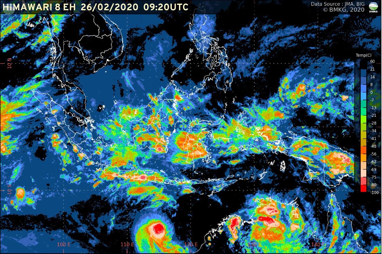 Waspada Potensi Hujan Lebat (25 Februari-2 Maret 2020)