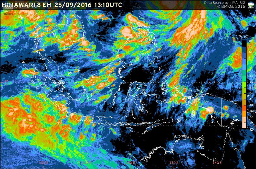 Waspada Potensi Hujan Lebat di Wilayah Indonesia 4 Hari ke Depan (26-29 September 2016)